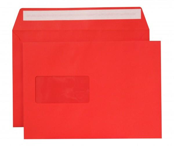 """Briefumschläge Haftstreifen """"Creative Color"""" m. F. Intensivrot chlorfrei 162x229 mm C5 120g/qm"""