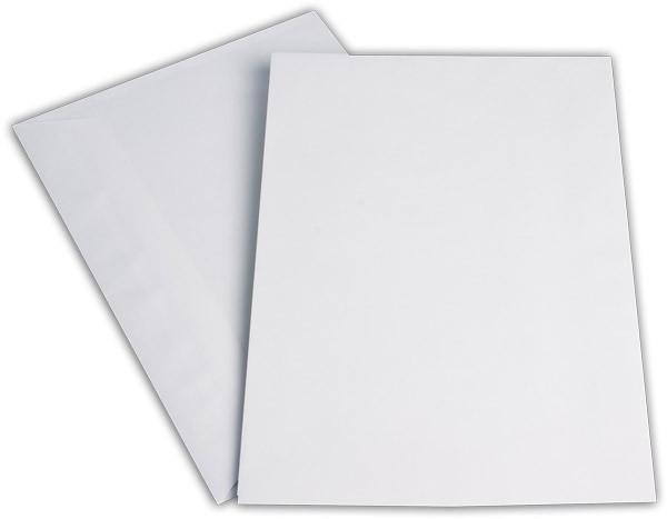 Kuvertierhüllen o. F. Weiss chlorfrei 229x324 mm C4 100g/qm
