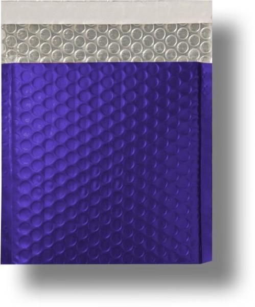 Metallic Bubble Bags Haftstreifen Dunkelblau matt Luftpolster 165x165 mm
