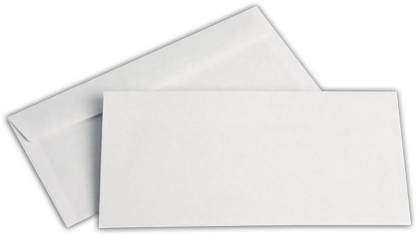 Briefumschläge nassklebend o. F. Weiss innen Grau chlorfrei 105x215 mm AN 75g/qm