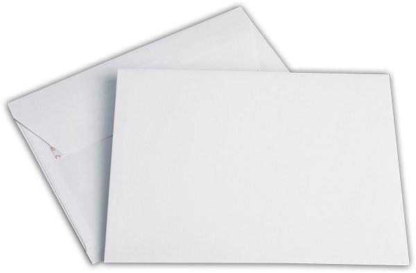 Elco Faltenhüllen mit Spitzboden und Haftstreifen Weiss Seitenfalte: 2cm 162x229 mm C5 120 g/qm