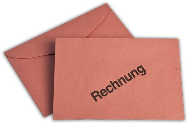 Briefumschläge nassklebend o. F. Rot Rechnung 114x162 mm C6 75g/qm