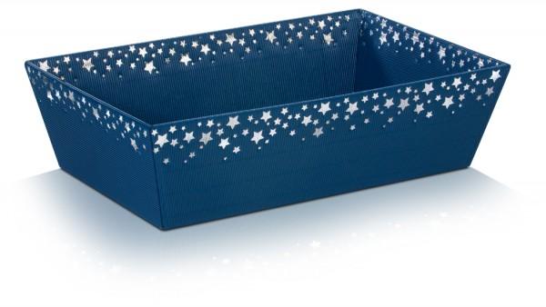 25 Stück Sternenregen Saphir Präsentkorb 4-eckig Blau
