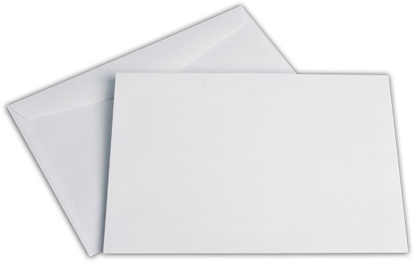 Kuvertierhüllen o. F. Weiss chlorfrei FSC 176x250 mm B5 100 g/qm