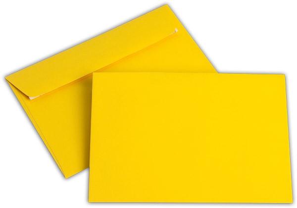 """Briefumschläge Haftstreifen """"Office Color"""" o. F. Goldgelb 114x162 mm C6 100g/qm"""