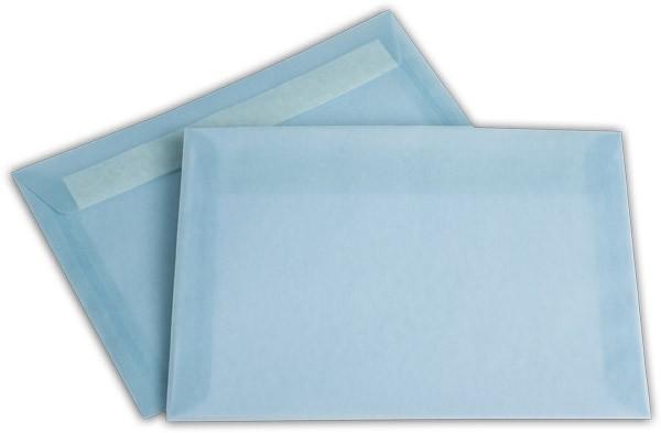 Briefumschläge transparent Haftstreifen o. F. Eisblau 162x229 mm C5 100g/qm