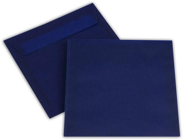 Briefumschläge transparent Haftstreifen o. F. Intensivblau 170x170 mm 100g/qm
