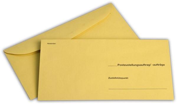 Äußere Zustellungshülle Gelb HKS4 o. F. nassklebend 120x235 mm