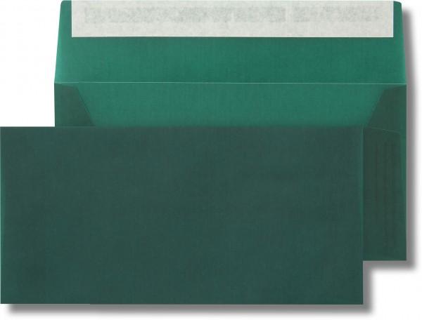 Briefumschläge transparent Haftstreifen o. F. Tannengrün 110x220 mm DL 110g/qm