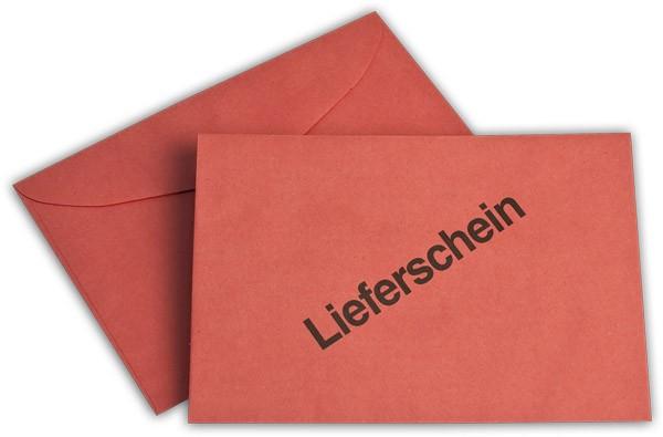 Briefumschläge nassklebend o. F. Rot Lieferschein Recycling 114x162 mm C6 75g/qm