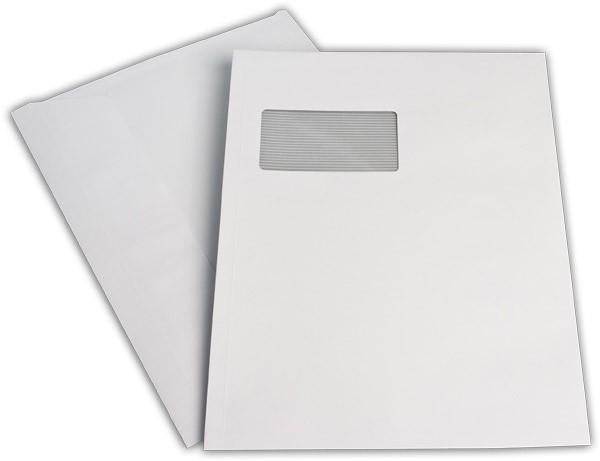 Briefumschläge Haftstreifen m. F. chlorfrei FSC 229x324 mm C4 120 g/qm