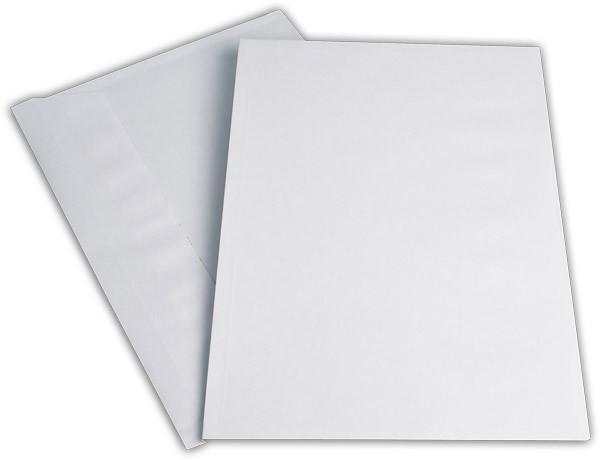 Elco Faltenhüllen Spitzboden und Haftstreifen Weiss Streifen Seitenfalte: 2cm 250x353 mm B4 120 g/qm
