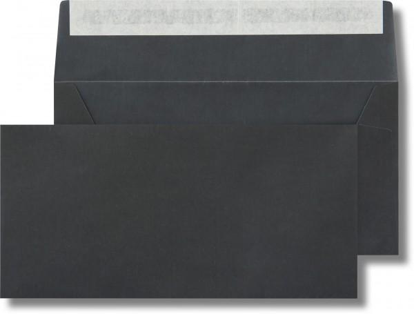 Briefumschläge transparent Haftstreifen o. F. Schwarz 110x220 mm DL 110g/qm
