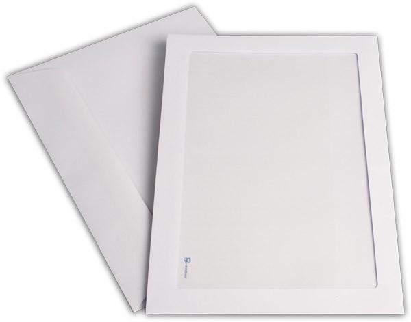 Briefumschläge mit Panoramafenster Weiss nassklebend chlorfrei 229x324 mm C4 120g/qm