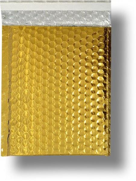 Metallic Bubble Bags Haftstreifen Gold glänzend Luftpolster 170x245 mm