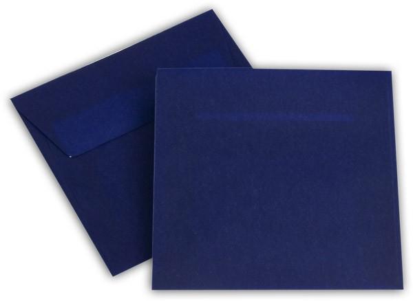 Briefumschläge transparent Haftstreifen o. F. Intensivblau 125x125 mm 100g/qm