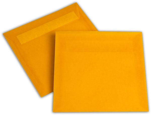 Briefumschläge transparent Haftstreifen o. F. Intensivorange 170x170 mm 100g/qm
