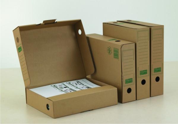 PREMIUM Ablagebox 75 265x75x324 aus Wellpappe braun
