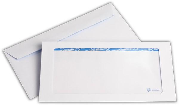 Briefumschläge mit Panoramafenster Haftstreifen Weiss chlorfrei 114x229 mm C6/5 100g/qm