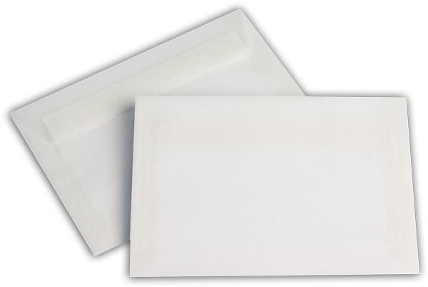 Briefumschläge transparent Haftstreifen o. F. Weiss 114x162 mm C6 92g/qm
