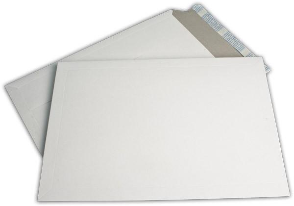 Kartontaschen Toppac Aufreißhilfe Weiss innen Grau Karton 320x455 mm 550g/qm