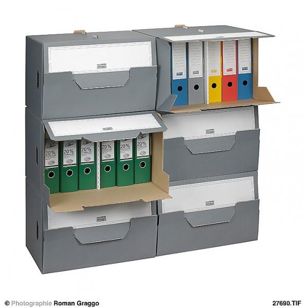 SELECT Archiv-Depot 520x340x330 aus Wellpappe grau