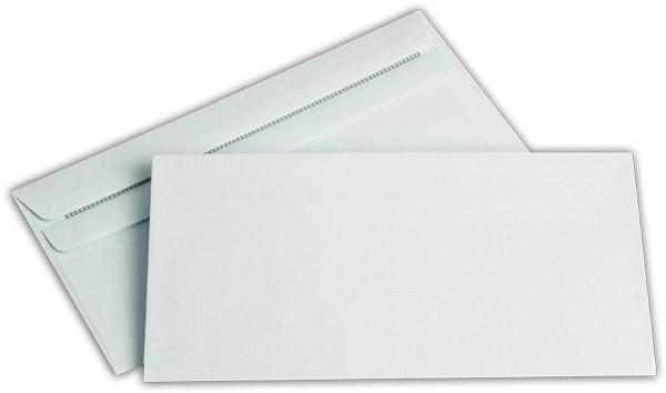 Briefumschläge o. F. Blau Innendruck chlorfrei 110x220 mm DL 80/g/qm
