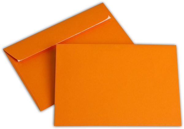 """Briefumschläge Haftstreifen """"Office Color"""" o. F. Orange 114x162 mm C6 100g/qm"""
