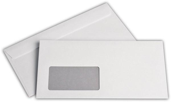 Briefumschläge HK m. F. Weiss innen Grau lasergeeignet chlorfrei 114x229 mm C6/5 80g/qm