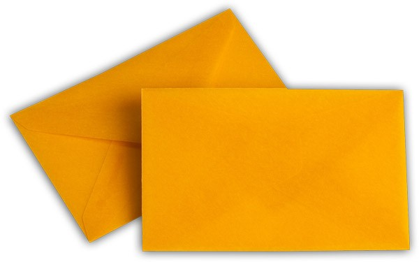 Briefumschläge transparent nassklebend o. F. Intensivorange 62x98 mm 100g/qm