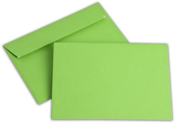 """Briefumschläge Haftstreifen """"Office Color"""" o. F. Intensivgrün 114x162 mm C6 100g/qm"""