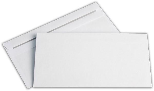 Briefumschläge o. F. Weiss innen Grau chlorfrei 125x235 mm KO 80g/qm