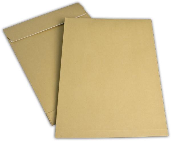 Faltentaschen mit Seiten- und Bodenfalte Braun Natron 280x400 mm Falte 40 mm E4 150g/qm