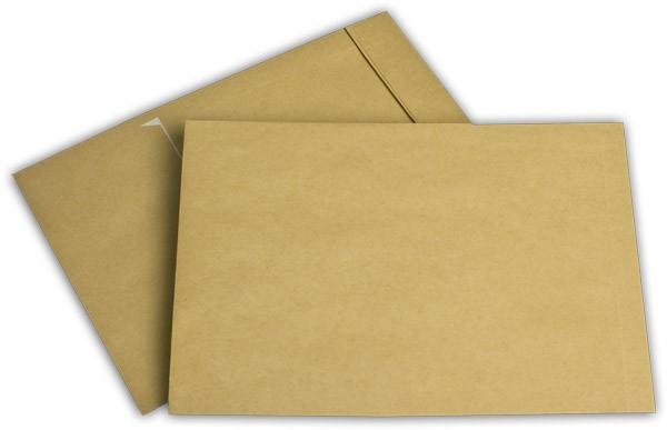 Faltentaschen mit Seiten- und Bodenfalte Braun Natron 162x229 mm Falte 32 mm C5 120g/qm
