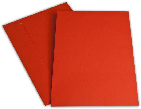 """Briefumschläge Haftstreifen """"Office Color"""" o. F. Intensivrot 229x324 mm C4 100g/qm"""