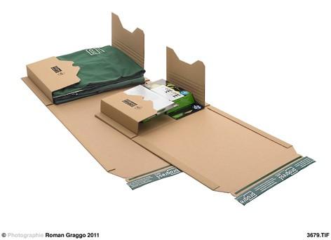 Universal-Versandverpackung ECO 686x425x -66 zum Wickeln braun