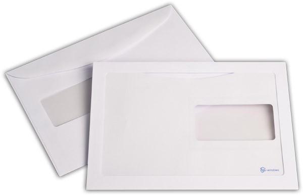 Briefumschläge mit Panoramafenster Weiss nassklebend chlorfrei 162x229 mm C5 100g/qm