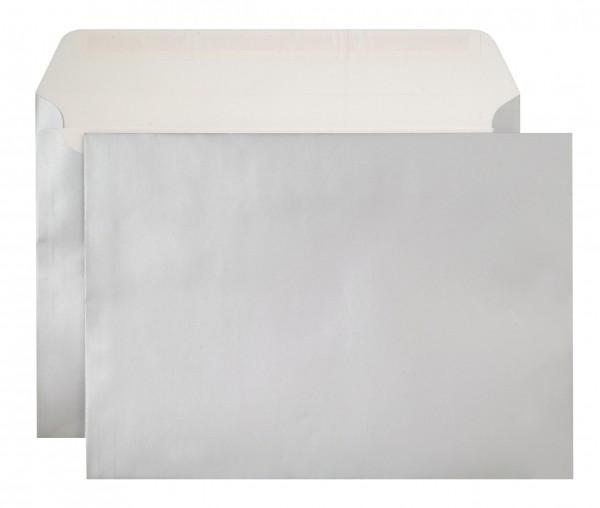Briefumschläge Haftstreifen metallic o. F. Silber chlorfrei 229x324 mm C4 130g/qm