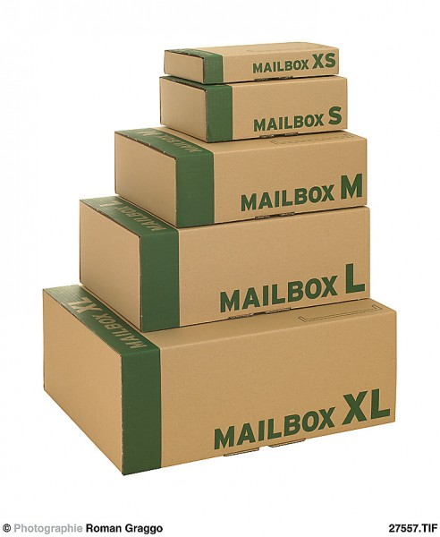 MAILBOX Post-Versandkarton 348x245x45 braun A4+ 1.03 B-Welle