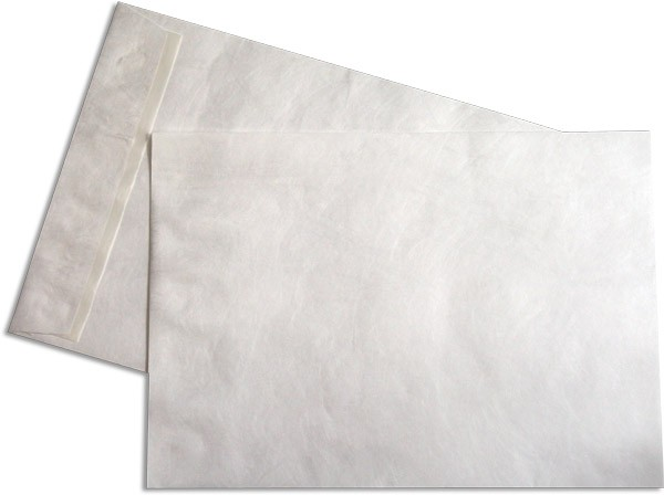 Tyvek Versandtaschen o. F. Haftstreifen Weiss 262x371 mm