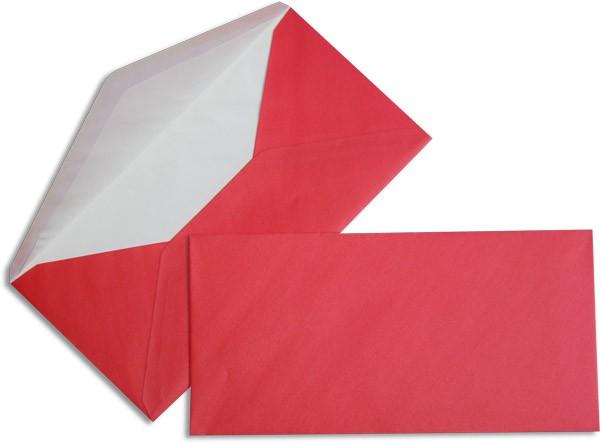 Pearls Briefhüllen nassklebend Seidenfutter Rot Pearl 110x220 mm DL 90g/qm