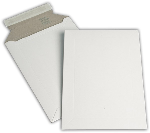 Kartontaschen Toppac Aufreißhilfe Weiss innen Grau Karton 175x250 mm 500g/qm