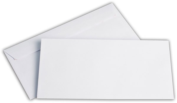 Briefumschläge Haftstreifen o. F. Weiss chlorfrei FSC 114x229 mm C6/5 100 g/qm