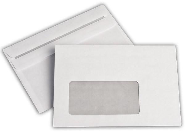 Briefumschläge m. F. Weiss innen Grau chlorfrei 114x162 mm C6 75g/qm