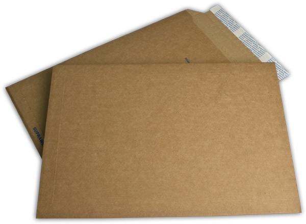 Suprawell Versandtaschen Haftstreifen Braun Mikrowelle 290x410 mm