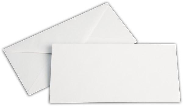 Briefumschläge nassklebend Seidenfutter Weiss chlorfrei 110x220 mm DL 80g/qm