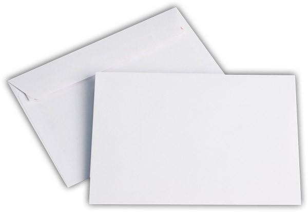 Briefumschläge Haftstreifen o. F. Weiss chlorfrei FSC 114x162 mm C6 100 g/qm