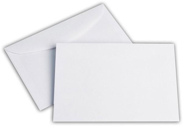 Kuvertierhüllen o. F. Weiss chlorfrei FSC 114x162 mm C6 100 g/qm