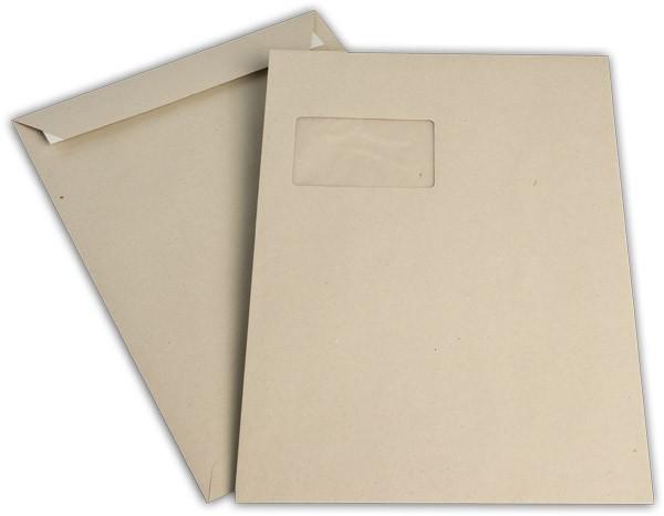 Versandtaschen Haftstreifen m. F. Grau 229x324 mm C4 100g/qm