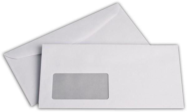 Kuvertierhüllen m. F. Weiss innen Grau ISK chlorfrei 114x229 mm C6/5 80g/qm
